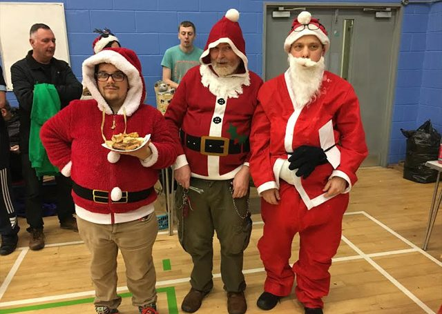 Just 3 of the Santas at our Christmas Party 2018