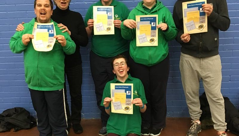 Lions Swimathon Team with Certificates
