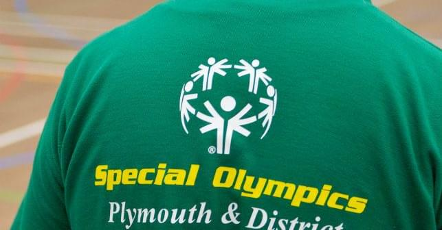 Back of Special Olympics Plymouth & District Shirt